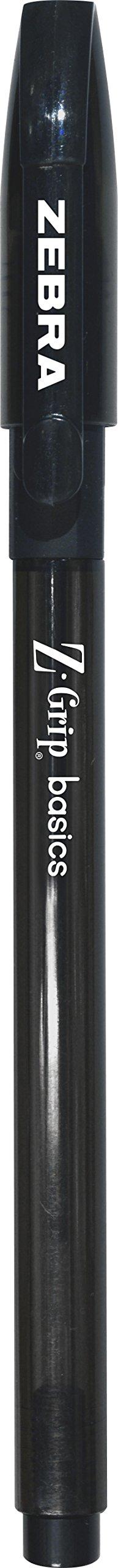 Zebra Pen Z-Grip Basics Stick Pen, Medium Point,1.0mm, Black Ink, 12-Count