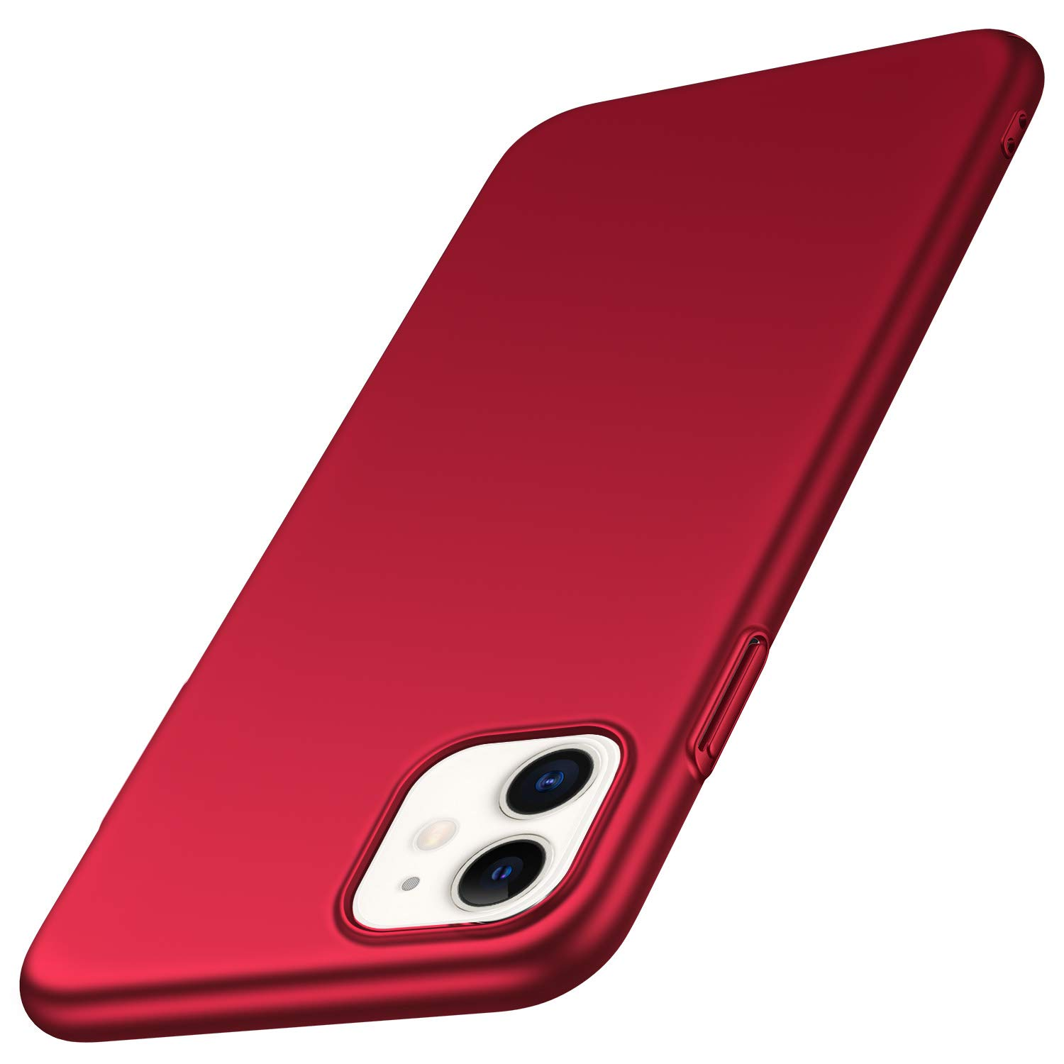 SHIWELY Ultra Thin iPhone 11 Case, Hard Polycarbonate PC Slim Fit Silky Smooth Phone Cover Case with Matte Finish for iPhone 11 (Red)