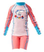 Happy Cherry Kids Rashguard Sets Cartoon Long Sleeve Swimming Sunsuit Two-Piece Wetsuit