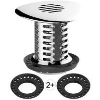 Tub Drain Hair Catcher, Upgraded Bathtub Shower Combo Drain Protector Hair Strainer Snare Trap, Match Standard Drain Sizes from 1.46 to 1.79 Inches, Catch Hair Easily and Fast Water, Anti-Rust, 1 pc
