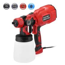 FirstPower HVLP Electric Paint Sprayer - Strong Spray Force, Easy Spraying & Cleaning, Lightweight for Home & Outdoors Painting Project - 800ML Container, 3 Spray Patterns, 4 Nozzle Sizes