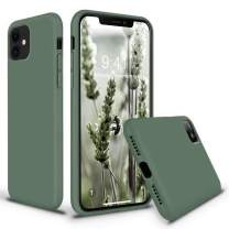 Vooii iPhone 11 Case, Soft Liquid Silicone Slim Rubber Full Body Protective iPhone 11 Case Cover (with Soft Microfiber Lining) Design for iPhone 11 - Pine Green