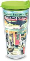 Tervis 1319368 Margaritaville - Beach Shop Insulated Tumbler with Wrap and Lid, 24 oz - Tritan, Clear