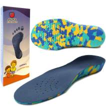 Ailaka Kids Orthotic Cushioning Arch Support Shoe Insoles, Children EVA Foam Inserts for Flat Feet, Plantar Fasciitis
