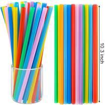 Tomnk 250pcs 10.3 Inch Jumbo Straws Smoothie Straws Boba Straws Milkshake Straws Extra Wide Extra Long Assorted Bright Colors