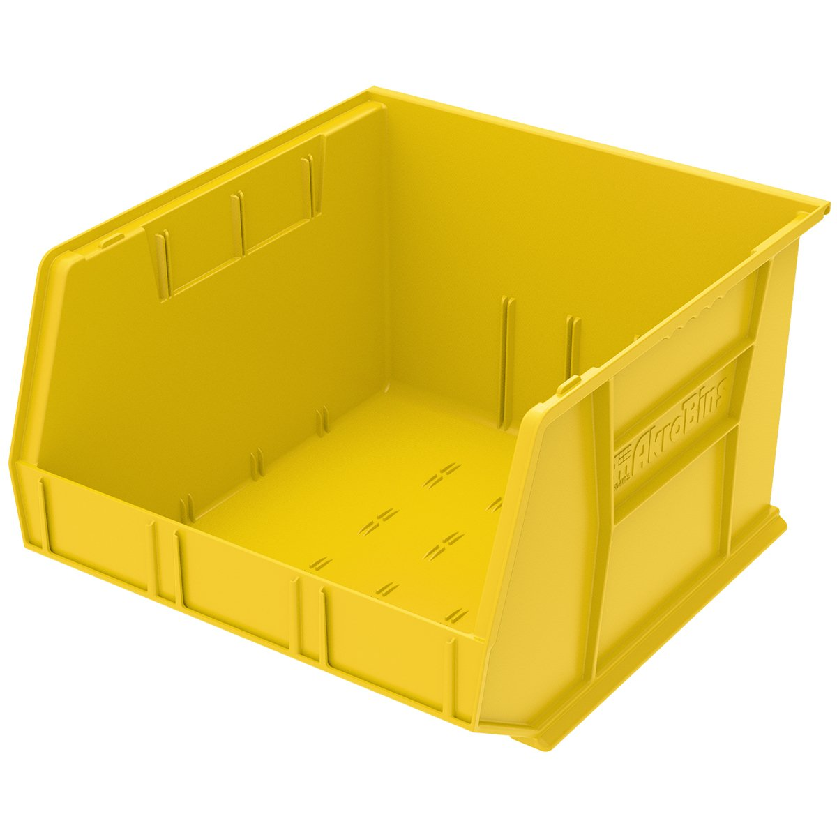 Akro-Mils 30270 AkroBins Plastic Storage Hanging Stacking Containers, (18-Inch x 16-Inch x 11-Inch), Yellow, (3-Pack) (30270YELLO)