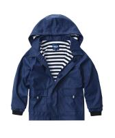 M2C Boys Girls Hooded Waterproof Rain Jacket Cotton Lined Windbreaker