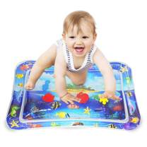 Tummy Time Mat, Water Play Mat Baby Toys for 3, 6, 9 to 12 Months, The Perfect Tummy Time Sensory Toys for Infant Play Activity Center, Great Baby Gifts Promotes Visual Stimulation (BPA Free)