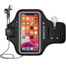 """iPhone 11 Pro, iPhone X/XS Armband, JEMACHE Water Resistant Gym Workouts Running Arm Band Case for iPhone 11Pro, X, XS (5.8"""") with Key Holder (Black)"""