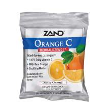 Zand HerbaLozenge Orange C | Vitamin C Lozenges w/Herbal Extracts for Soothing Throat | No Corn Syrup, Cane Sugar or Artificial Colors | 15ct, 1 Bag