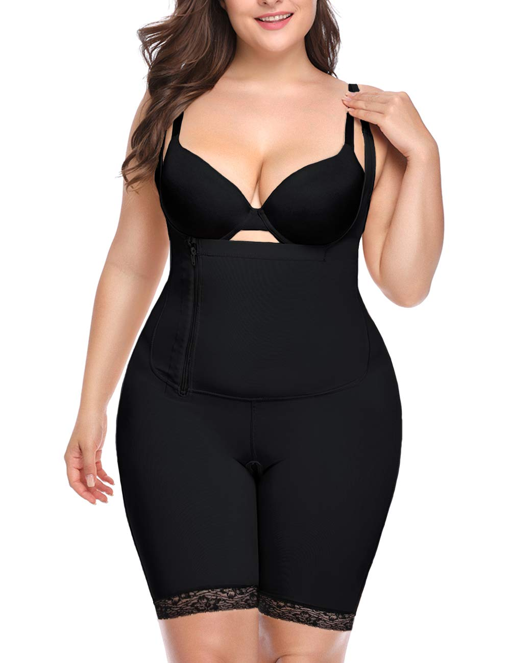 RIBIKA Womens Shapewear Tummy Control Bodysuit Slimming Seamless Full Body Shaper Corset