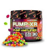 VMI Sports Pump-XR Nitric Oxide Boosting Pre Workout Powder, Intense Pumps, Vascularity and Strength, Stimulant Free, Rainbow Candy, 30 Servings