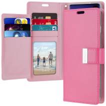 Goospery Rich Wallet for Samsung Galaxy S10 Plus Case (2019) Extra Card Slots Leather Flip Cover (Hot Pink) S10P-RIC-HPNK