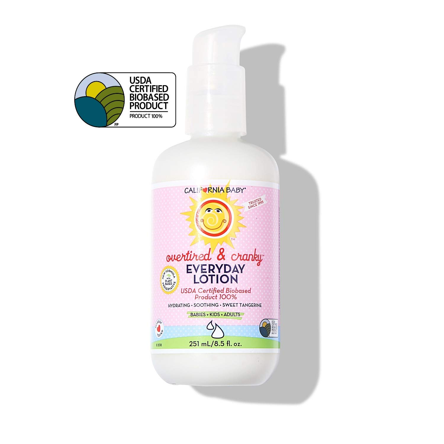 California Baby Overtired and Cranky Everyday Lotion (6.5 oz.) Moisturizer for Dry, Sensitive Skin | Post Bath and Diaper Changing | Non-Greasy, Fast-Absorbing Formula
