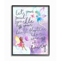 Stupell Industries Let Your Soul Sparkle Fairies Painting Black Framed Wall Art, 16x20, Design By Artist Erica Billups