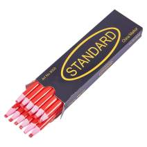 BENECREAT 12PCS Water Soluble Pencil Tracing Tools for Tailor's Sewing Marking and Students Drawing, Red