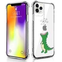 Case Compatible for iPhone 11 Pro Case Hungry Dinosaur Pattern Design Soft TPU Bumper Shockproof Clear Cover Phone Case for iPhone 11 Pro Case 5.8 Inch (2019)