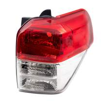 Brock Replacement Passenger Tail Light with Chrome Bezel Compatible with 10-13 4Runner