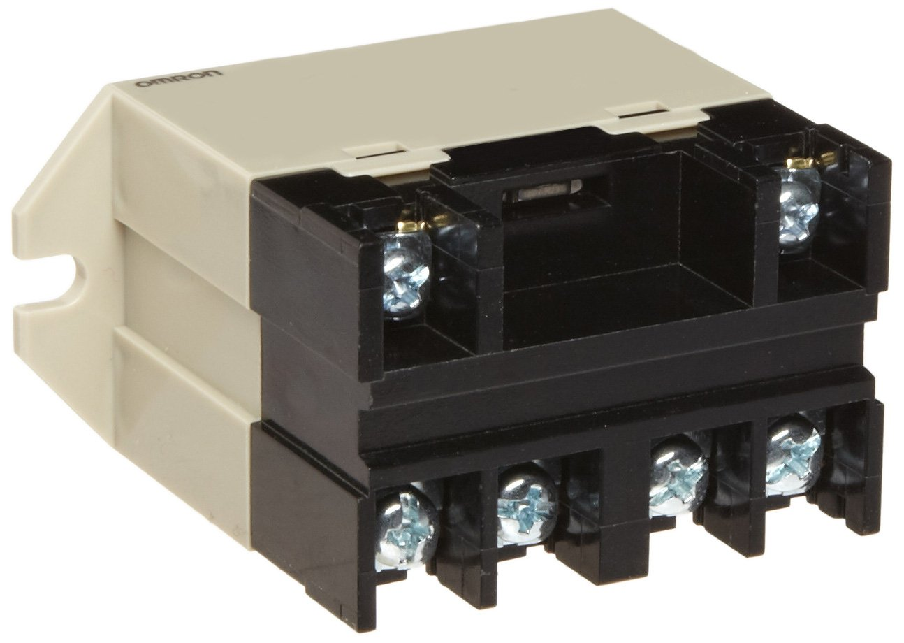 Omron G7L-1A-BUBJ-CB AC100/120 General Purpose Relay with Test Button, Class B Insulation, Screw Terminal, Upper Bracket Mounting, Single Pole Single Throw Normally Open Contacts, 17 to 20.4 mA Rated Load Current, 100 to 120 VAC Rated Load Voltage