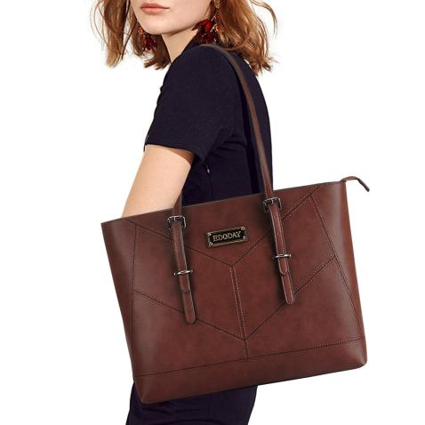 Laptop Bag for Women,13,14,15.6 Inch Laptop Tote Bag,Casual Work Tote Business Computer Bags for Women Shoulder Bag,Coffee