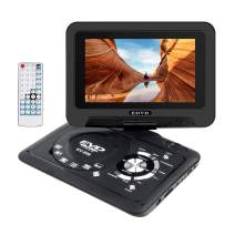 """Smyidel 9.8"""" Portable DVD Player Supports SD Card/USB Port/CD/DVD, Rede Controller,2 Hour Rechargeable Battery, 9"""" Eye-Protective Screen, Support AV-in/Out,Region Free (Black)"""