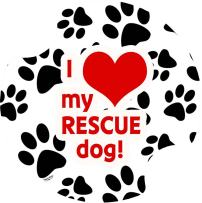 Thirstystone Love My Rescue Dog Car Cup Holder Coaster, 2-Pack