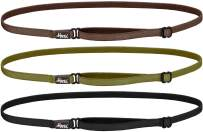 Hipsy Women's Elastic & Adjustable No Slip Running Headband Multi Pack