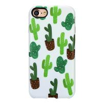 GOLINK iPhone 7 Case for Girls/iPhone 8/SE 2 Summer Case, Summer Series Slim-Fit Anti-Scratch Shock Proof Anti-Finger Print Flexible TPU Gel Case for iPhone 7/iPhone 8-Cactus I