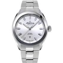 Alpina Men's Alpiner Swiss Quartz Sport Watch with Stainless Steel Strap, Silver, 21 (Model: AL-240SS4E6B)