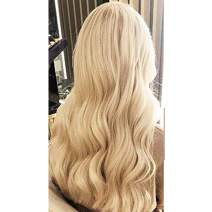 Moresoo Brazilian Tape in Hair Extensions 20 Inch Skin Weft Hair Extensions Seamless 20PCS 50G Real Human Hair Tape in Extensions Blonde Color 24 Light Blonde Soft and Silky Hair