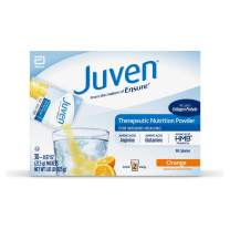Juven Therapeutic Nutrition Drink Mix Powder for Wound Healing Includes Collagen Protein, Orange, 30 Count
