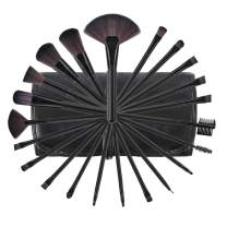Makeup Brushes, Premium Makeup Brushes Set Black 22pcs Complete Cosmetic Brush Collection for Foundation Blending Power Blush Eyeshadow
