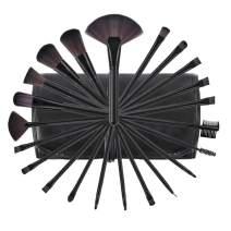 Makeup Brushes, Premium Makeup Brushes Set Black 22pcs Complete Cosmetic Brush Collection for Foundation Blending Power Blush Eyeshadow