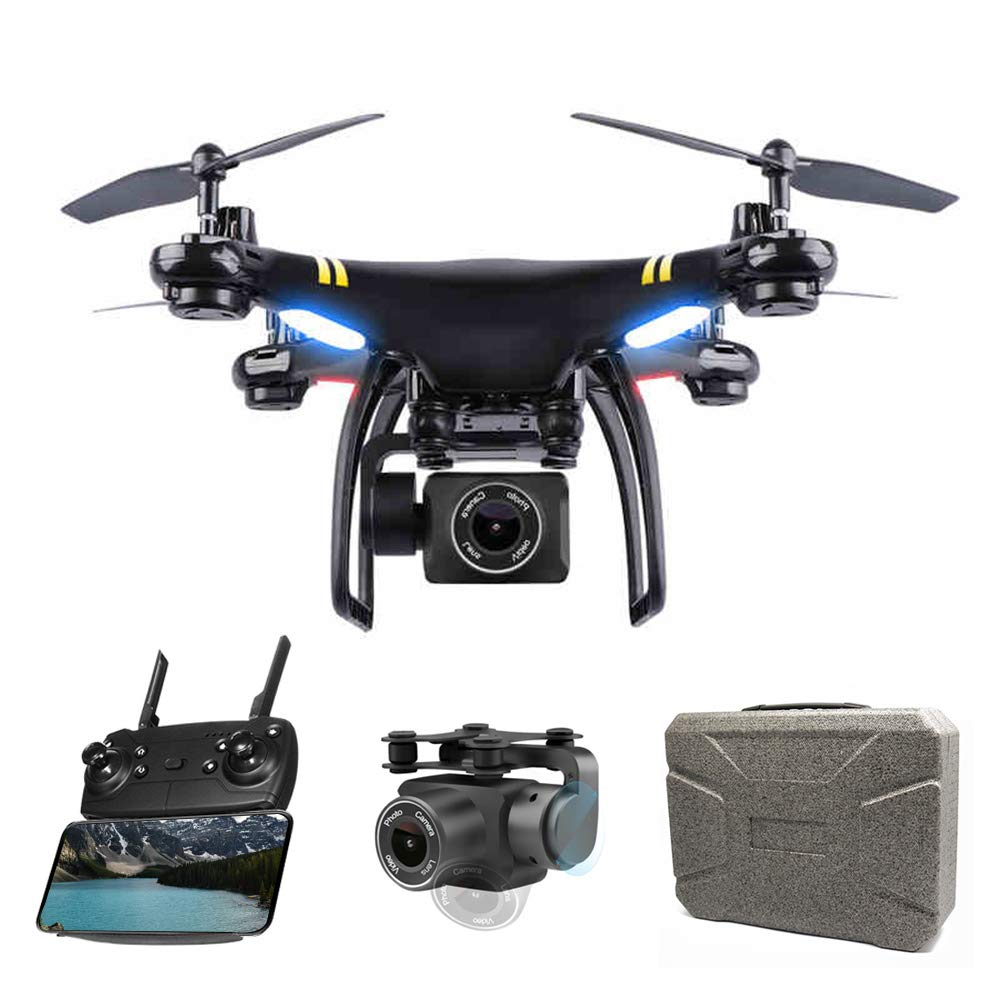 Global Drone GPS Drone FPV Drones with Camera for Adults Beginners 1080P HD Live Video, RC Quadcopter Helicopter with Adjustable Camera, Follow Me, Altitude Hold, Intelligent Auto Return Home