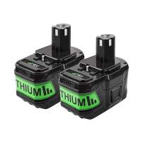 Replacement Battery Powtree 9000mAh 18V Lithium-ion Battery for Ryobi ONE+ P102 P103 P104 P105 P107 P108 P109 P122 Cordless Power Tools with LED Indicator (2 Packs)