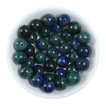 8MM Phonenix Lapis Lazuli Stone Beads for Bracelets Round Loose Gemstone for Jewelry Making, 8mm 45pcs Blue-Green Lapis Lazuli Beads