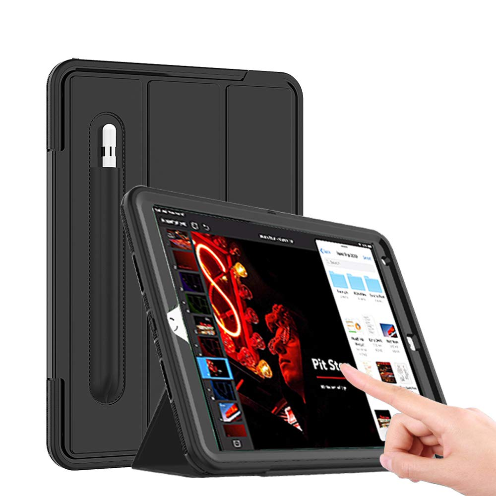 LITCHI iPad Air 3 Smart Case, iPad Pro 10.5 Smart Case with Pencil Holder, Magnetic Smart Cover with Auto Sleep/Wake, Built-in Screen Protector and Trifold Stand for iPad 10.5 inch 2017/2019 Release