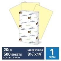Hammermill Canary Colored 20lb Copy Paper, 8.5x14, Legal Size, 1 Ream, 500 Sheets, Made in USA, Sustainably Sourced From American Family Tree Farms, Acid Free, Pastel Printer Paper, 103358R