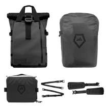 PRVKE Travel and DSLR Camera Backpack with Laptop/Tablet Sleeve and Rain Cover - Rugged Photography Bag - Photography Bundle (31 L, Black)