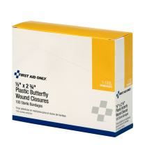 First Aid Only Butterfly Wound Closures, Large, 100 Per Box