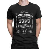 Gold Vintage 1979 Age Perfect Graphic T Shirt 41st Birthday Gift for Men