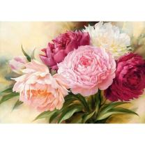 Adarl 5D DIY Full Diamond Painting Rhinestone Pictures of Crystals Embroidery Kits Arts, Crafts & Sewing Cross Stitch (Peony)
