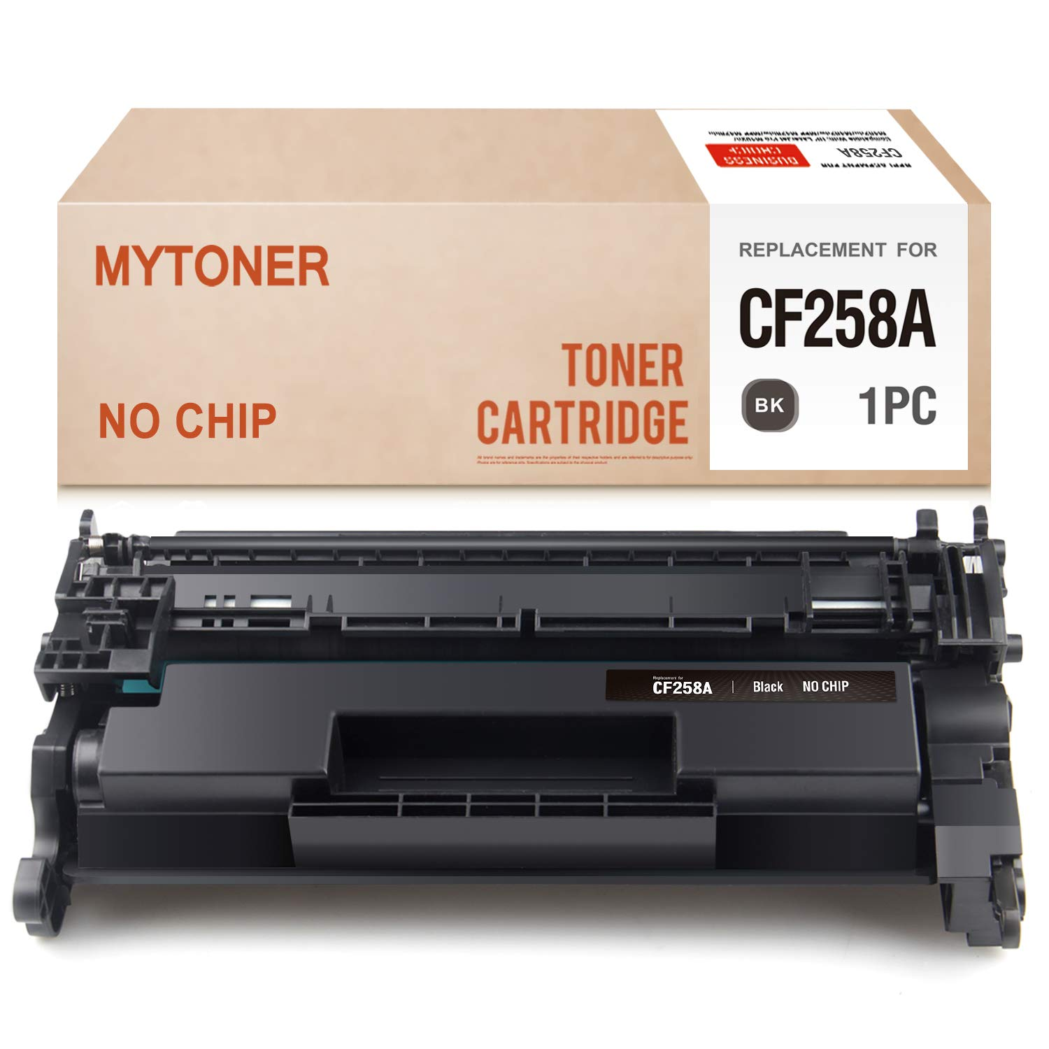 MYTONER (No Chip) Compatible Toner Cartridge Replacement for HP 58A CF258A Toner for Laserjet Pro M304 M404n M404dn M404dw MFP M428fdw M428fdn Printer Series Ink (Black,1-Pack)