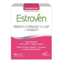Estroven Perimenopause Relief+Weight Management Supplement Capsules Helps Reduce Hot Flashes & Night Sweats & Manage Weight Contains Naturally-Sourced Black Cohosh, 30 Count (Pack of 1)