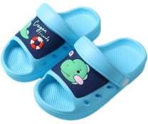 Kid's Garden Clogs Boys Girls Lightweight Open Toe Beach Pool Slides Sandals Toddler Non-Slip Summer Slippers Water Shoes