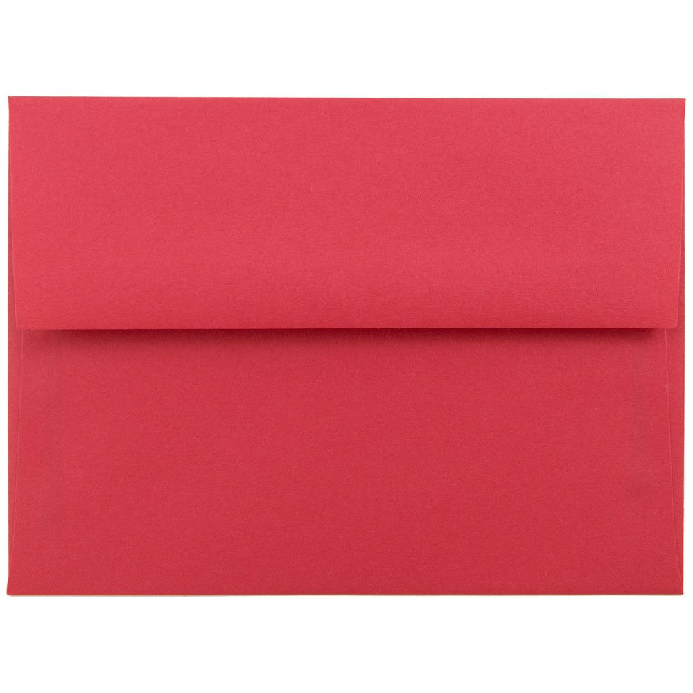 JAM PAPER A6 Colored Invitation Envelopes - 4 3/4 x 6 1/2 - Red Recycled - 25/Pack