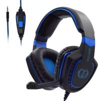 Gaming Headset with Microphone for Xbox One PC PS4 PS5 PC Gaming Headphones with Mic, AH28 Wired Over Ear Gaming Headphone for PC MAC Computer Laptop Playstation 4, Xbox one Controller, Phones