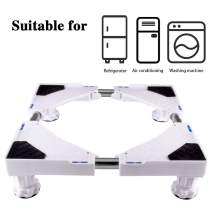LUCKUP Multi-functional Movable Adjustable Base with 4 Strong Feet Size Adjustable Universal Mobile Case Roller Dolly for Dryer, Washing Machine and Refrigerator,White …