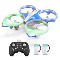 Mini Drone for Kids Adults - LED Mini RC Nano Helicopter 2.4G 6-Axis Gyro Drone for Kids & Beginners with Altitude Hold, Infrared Sensing, 3D Flips, RTF One Key Take Off丨Landing Boys Girls Gift Toys