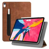 """Fintie Magnetic Slim Case for iPad Pro 11"""" 2018 [Supports 2nd Gen Pencil Charging Mode] - Lightweight Stand Cover [Secure Pencil Pocket] Auto Sleep/Wake, Magnetic Attachment, Rustic Brown"""